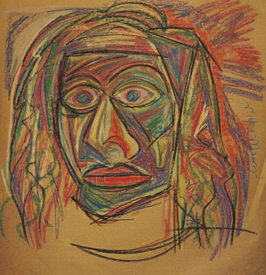The Face Mask Art Print