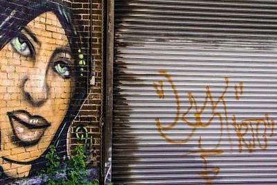 The Face Of Graffiti Art Print
