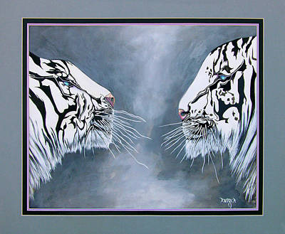 Painting - The Face Off by Andrea Camp