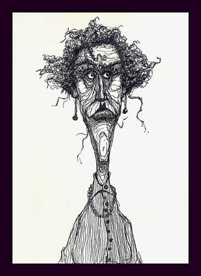 The Face Art Print by Wayne Carlisi