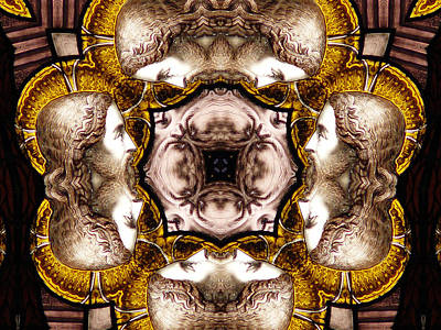 Abstract Airplane Art Rights Managed Images - The Faces of Christ Royalty-Free Image by Diane Carlson