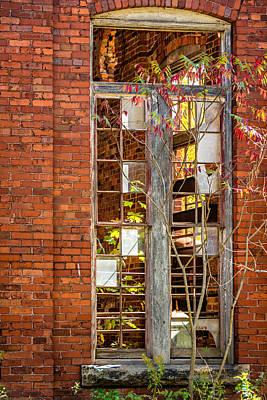 Building Factory Photograph - The Factory Door 2 by Steve Harrington