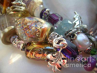 Lampwork Bracelet Jewelry - The Faerie And The Old Oak Tree by Julie Wilson