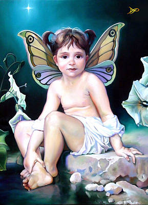 Lilies Royalty-Free and Rights-Managed Images - The Faerie Princess by Patrick Anthony Pierson