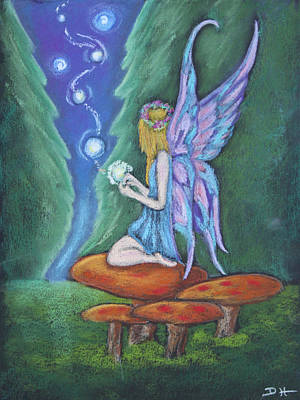 Pastel - The Faery Lights by Diana Haronis