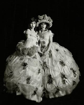 Photograph - The Fairbanks Twins Wearing 19th Century Dresses by Nickolas Muray