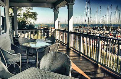 Digital Art - The  Fairhope Yacht Club Porch by Michael Thomas