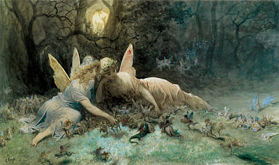 Digital Art - The Fairies From William Shakespeare Scene by Gustave Dore