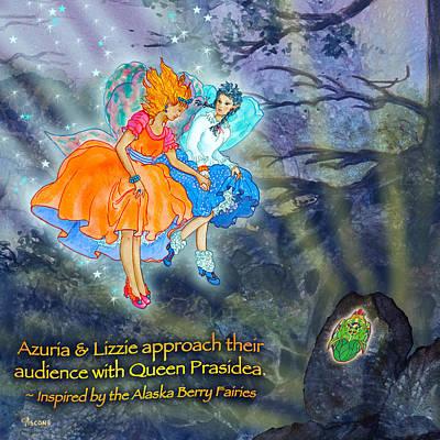 Matanuska Painting - The Fairies Meet Queen Prasidea by Teresa Ascone
