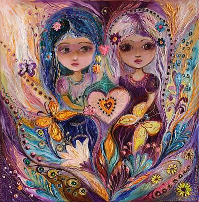 Good Luck Painting - The Fairies Of Zodiac Series - Gemini by Elena Kotliarker
