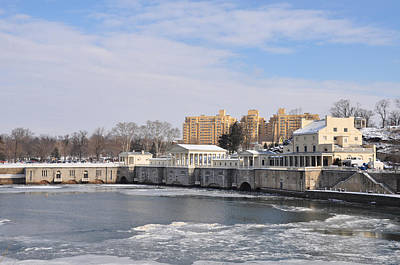 The Fairmount Waterworks In Winter Print by Bill Cannon