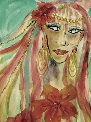 Painting - The Fairy Avatar Close-up Earth Tones by Ellen Levinson