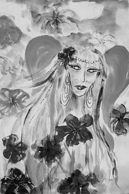 Painting - The Fairy Avatar - Shades Of Grey by Ellen Levinson
