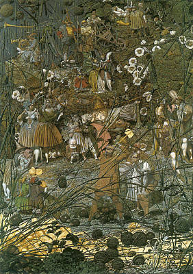 Digital Art - The Fairy Feller Master Stroke by Richard Dadd