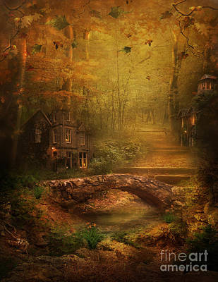 Digital Art - The Fairy Forest In The Fall by Lynn Jackson