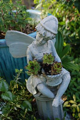 Flowers Photograph - The Fairy Gardener by Carol  Eliassen