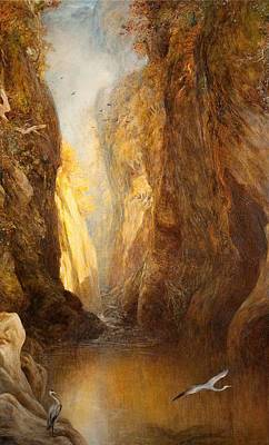 Glen Painting - The Fairy Glen, Bettws-y-coed by Henry Clarence Whaite