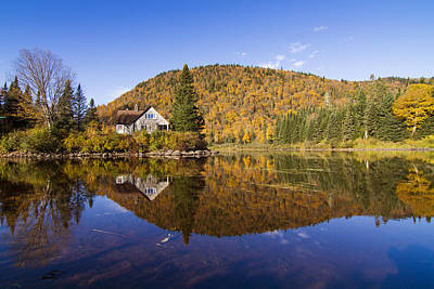Laurentians Photograph - The Fairy Lake by Mircea Costina Photography
