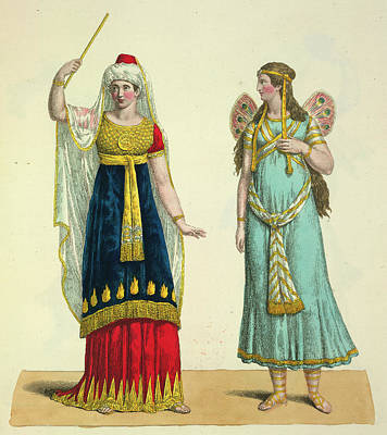 Genie Photograph - The Fairy Namuna And The Genie by British Library