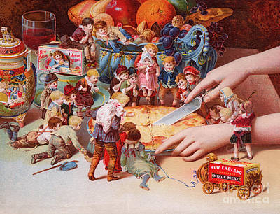 Little People Painting - The Fairys Pie by American School