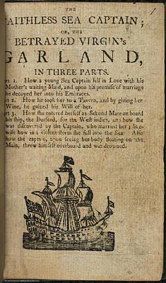 Sea Captain Photograph - The Faithless Sea Captain by British Library