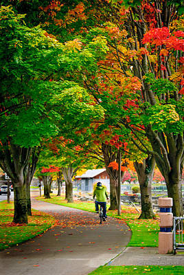 Photograph - The Fall Bike Ride by Cassius Johnson