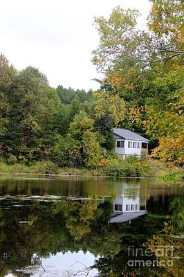 The Fall Cottage Original by Laura Paine