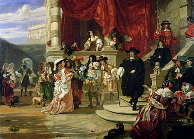 Staircase Painting - The Fall Of Edward Hyde , 1st Earl by Edward Matthew Ward
