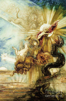 Serpent Painting - The Fall Of Phaethon by Gustave Moreau
