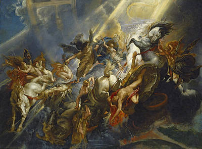 Rays Painting - The Fall Of Phaeton by  Peter Paul Rubens
