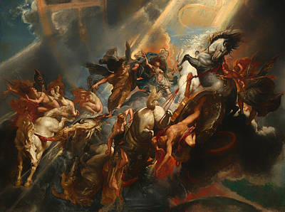 Catastrophe Painting - The Fall Of Phaeton by Mountain Dreams