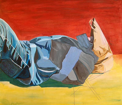 Painting - The Fallen Knight Of Lech Walesa Way by Kevin Callahan