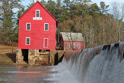 Starrs Mill Photograph - The Falls At Starr's Mill by Don Messina
