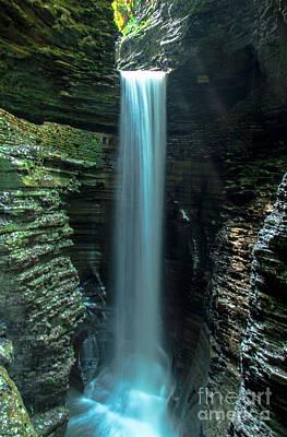 The Falls At Watkins Glen Art Print by Steve Clough