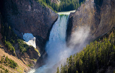 Yellowstone Wall Art - Photograph - The Falls by Kristopher Schoenleber