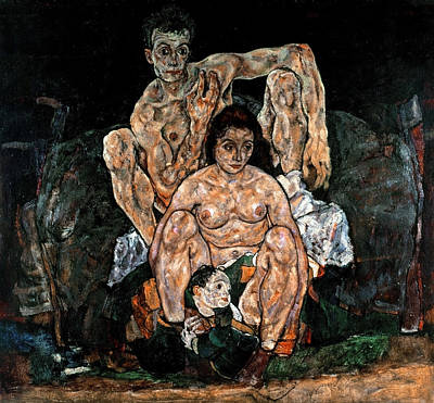 The Family, 1918 Art Print by Egon Schiele