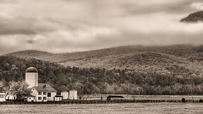 Photograph - The Family Farm Bw by JC Findley