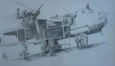 Raf Drawing - The Family  by James Crook