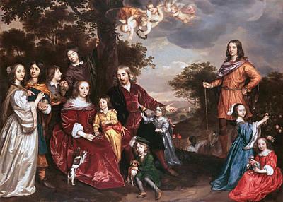 Oil Painting - The Family Of Mr Willem Van Den Kerckhoven by Celestial Images