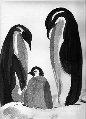 Happy Feet -the Family Of Penguins Art Print