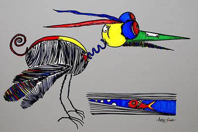 By Artist Singh Painting - The Famous Bird 1 G by Artist Singh