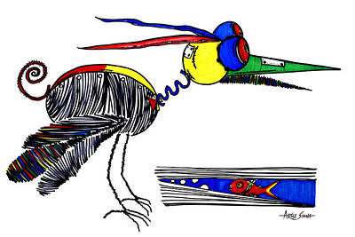 By Artist Singh Painting - The Famous Bird 1 W by Artist Singh