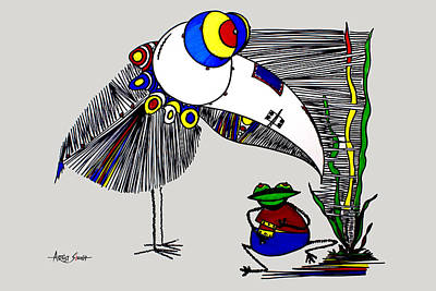 By Artist Singh Painting - The Famous Bird 2 G By Artist Singh  by Artist Singh