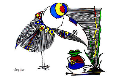 By Artist Singh Painting - The Famous Bird 2 W By Artist Singh  by Artist Singh