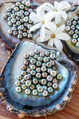 The Famous Black Pearls Of Tahiti Art Print by Matteo Colombo