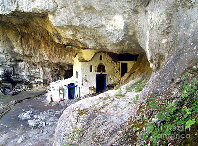 Photograph - The Famous Cave Church by Nina Ficur Feenan