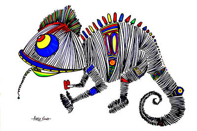 By Artist Singh Painting - The Famous Chameleon 1 by Artist Singh