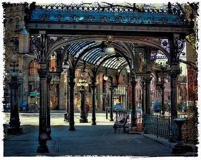 Storefront Photograph - The Famous Pergola In Pioneer Square by David Patterson