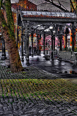 Photograph - The Famous Pergola In Pioneer Square - Seattle Washington by David Patterson