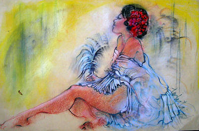 Pastel - The Fan Dancer by Josie Taglienti